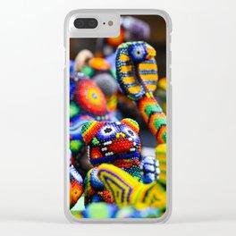 Colorful Mexican Alebrije Art Clear iPhone Case