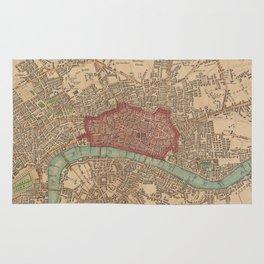 Vintage Map of London England (1815) Rug