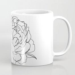 Botanical illustration line drawing - Peony Coffee Mug
