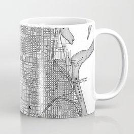 Vintage Map of Omaha Nebraska (1901) BW Coffee Mug