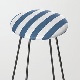 Blue and White Stripes Counter Stool