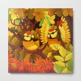 The seasons | Autumn birds Metal Print