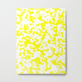 Spots - White and Yellow Metal Print