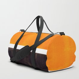 Minimalist Mid Century Modern Color Block Pop Art Rothko Inspired Golden Yellow Black Squares Duffle Bag