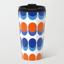 Vibrant Blue and Orange Dots Travel Mug