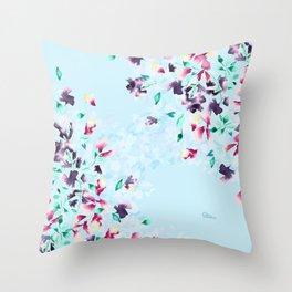 Delphinium bushes Throw Pillow