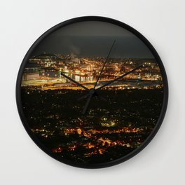 Port Kembla Wollongong at night Wall Clock