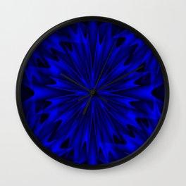 Midnight Blue Abstract 4 Wall Clock