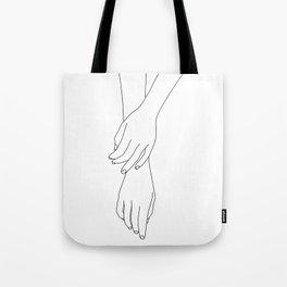 Hands line drawing illustration - Effie Tote Bag