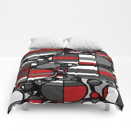 Black and red plaid bubbles Comforters