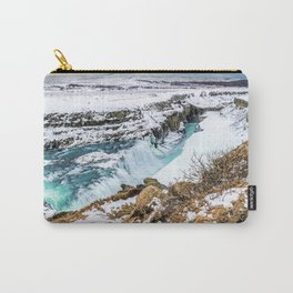 Gulfoss Iceland in Winter Carry-All Pouch