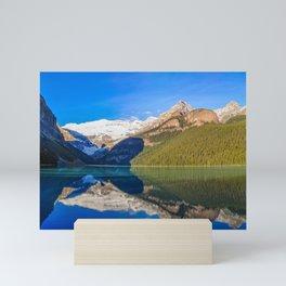 Lake Louise panorama, Canada. Mini Art Print