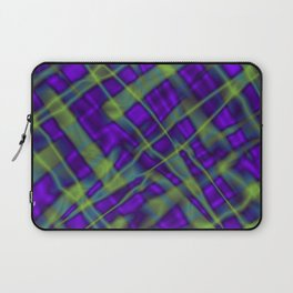Bright metal mesh with violet intersecting diagonal lines. Laptop Sleeve