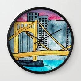 Pittsburgh Bridge Wall Clock