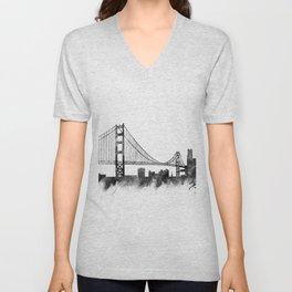 San Francisco Skyline Unisex V-Neck