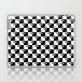 Black and White Checkerboard Scales of Justice Legal Pattern Laptop & iPad Skin