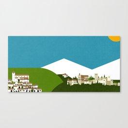 Granada - El Albaycín y La Alhambra Canvas Print