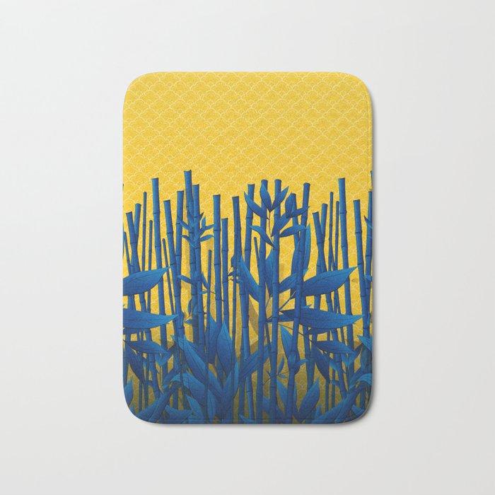 Blue Bamboo Bath Mat