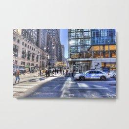 New York City Street Scene Metal Print