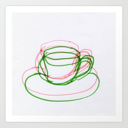 Coffee Cups Collection - #4 Coffee cup - Abstract Art Print