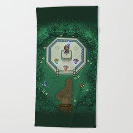 Zelda Mastesword Pixels Beach Towel