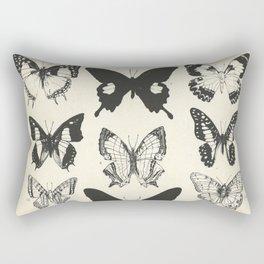 Vintage Butterfly Print Rectangular Pillow