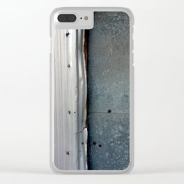 Steel Bolts Clear iPhone Case