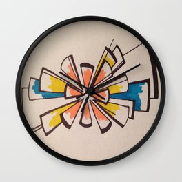 Stained Burst Wall Clock