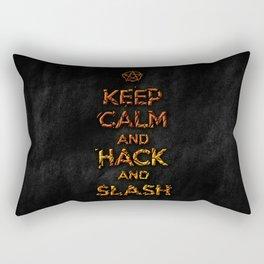 Keep Calm and Hack and Slash Rectangular Pillow