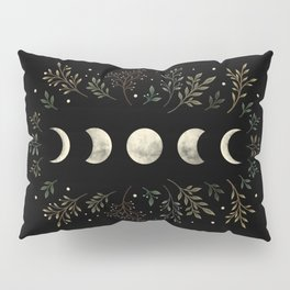 Moonlight Garden - Olive Green Pillow Sham