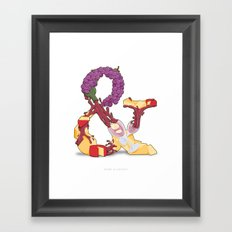 Wine & Cheese Framed Art Print