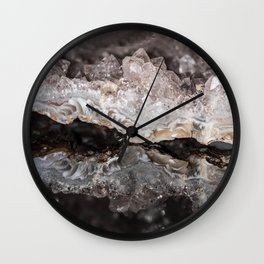 """Reflections"" - Geo Rock Wall Clock"