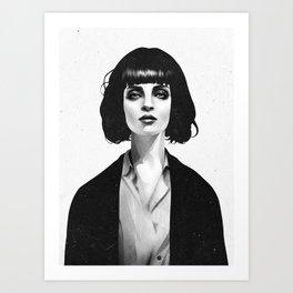 Mrs Mia Wallace Art Print