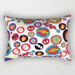Superhero Stickers Rectangular Pillow