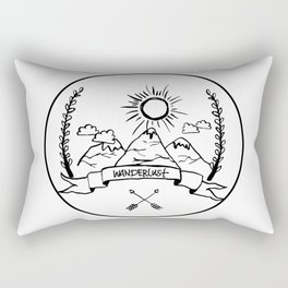 Mountain Wanderlust Rectangular Pillow