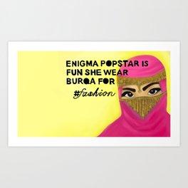 Burqa Art Print