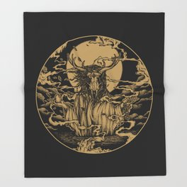 DREAMTIME - GOLD Throw Blanket