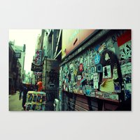 stickers Canvas Prints featuring Urban Stickers by Martin Sturk