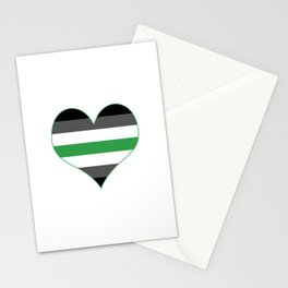 Agender Heart Stationery Cards
