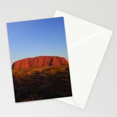 Uluru in the morning Stationery Cards