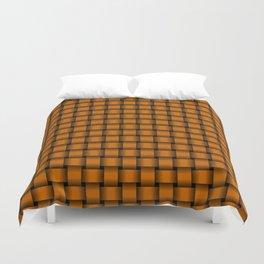 Small Dark Orange Weave Duvet Cover