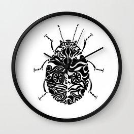 Zebra or crazy ladybug Wall Clock