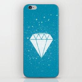 Space Diamond (blue) iPhone Skin