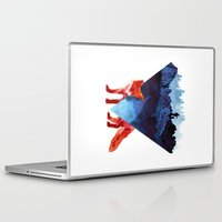 road Laptop & iPad Skins featuring Risky road by Robert Farkas