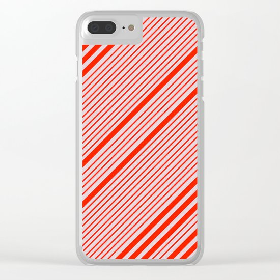 Lovely Stripes Clear iPhone Case