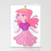 princess bubblegum Stationery Cards featuring Bubblegum by Pilotinta