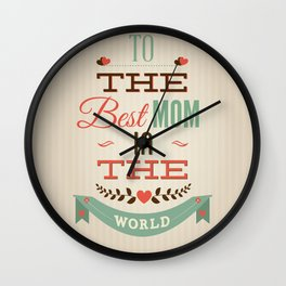 Mothers' Day Wall Clock