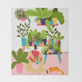 Love Plants Throw Blanket