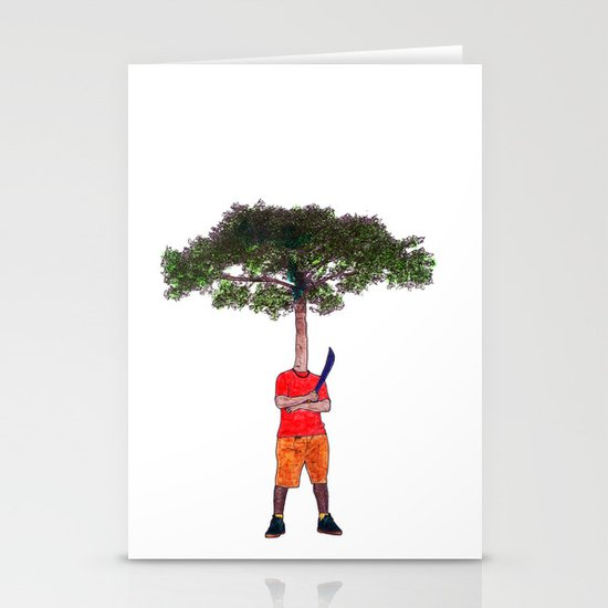 Warrior tree Stationery Cards