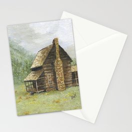 Log Cabin in Smokies Stationery Cards
